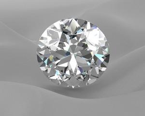 Shiny white diamond illustration (high resolution 3D image)