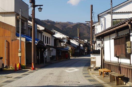 岡山県 勝山の道