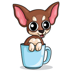 Dog Chihuahua Cartoon Illustration of cute cartoon chihuahua.