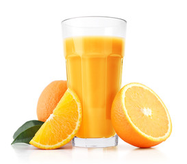 Wall Mural - Orange juice and slices
