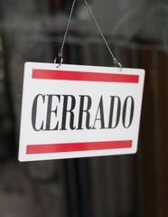 Closed spanish store