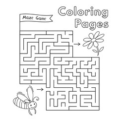 Cartoon Bee Maze Game