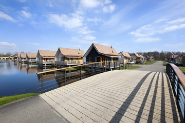 Wooden vacation houses in Reeuwijk