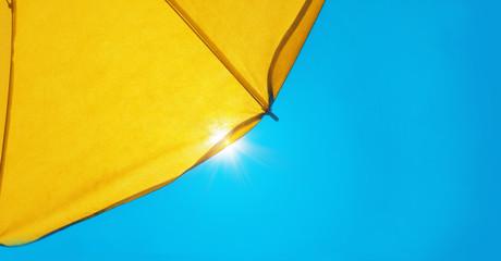 Sunshade in summer