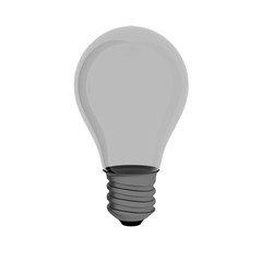 Incandescent Light Bulb 3d Illustration Isolated