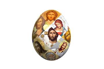 пасхальное яйцо с иконами