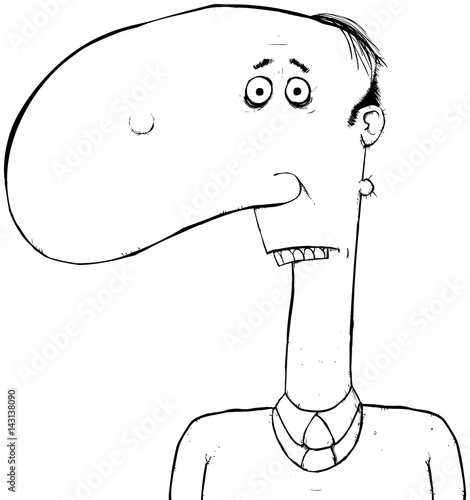 Cartoon Characters With Big Noses : Quot black and white outline man with big nose cartoon