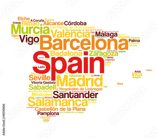 Spain Map Cities