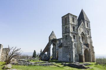 Ruin of the Zsámbék Premontre monastery church in Hungary