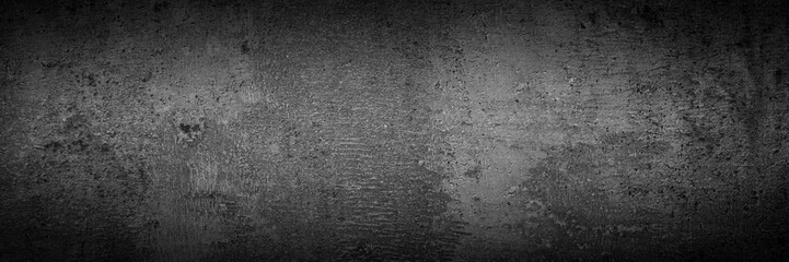 Black monochrome slate background. Concrete texture