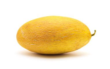 Fresh yellow melon isolated on white background