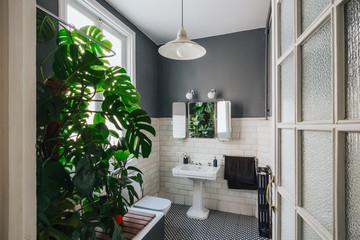 Vintage trendy bathroom