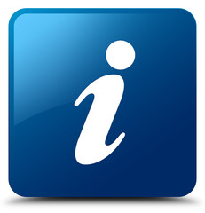 Info icon blue square button