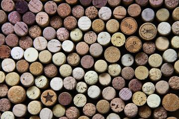 Wine cork background.