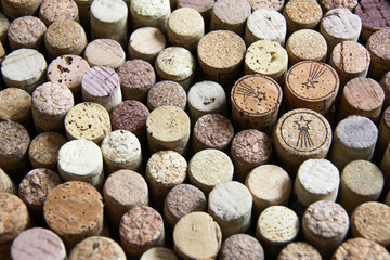 Corks from bottles of wine.