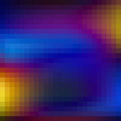 Neon background textured by squares. Dark blue pattern