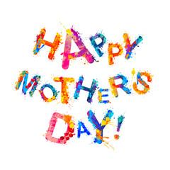 Happy Mother's Day! Splash paint