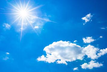 Himmel Blau Sonne Sonnenstrahlen Wolken