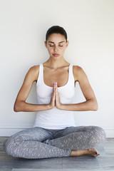 Beautiful woman in yoga pose