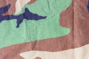 Texture of camouflage fabric use for background image