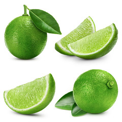 limes fruit isolated