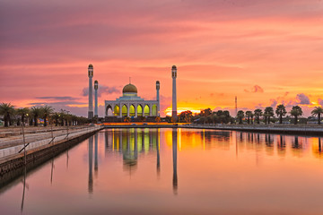 Central Mosque in Hat Yai Thailand.