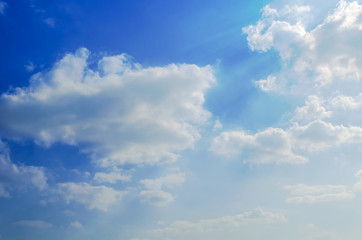 clouds background.white fluffy clouds in the blue sky.Nice white cloud on the sky