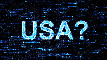 Cyberespionage in USA. Hacking of information technology