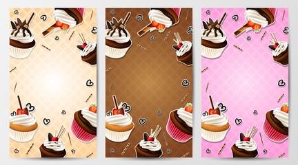 Cupcake vertical banner