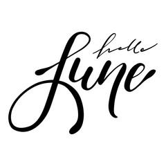 Hello June handwriting lettering design