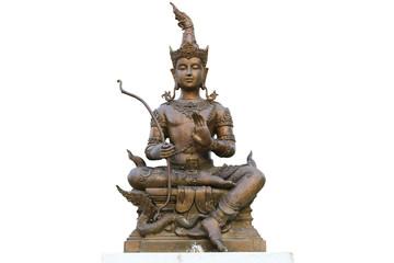 thai statue on white background