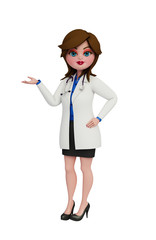 3d Doctor with holding pose.