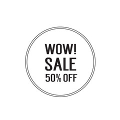 Wow Sale Lettering in Circle