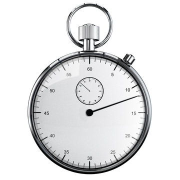 stopwatch isolated on white background 3d rendering