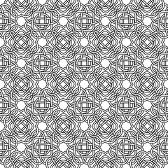Celtic seamless pattern in Medieval style. Plexus background endless repeat backdrop, texture, wallpaper. Stock vector