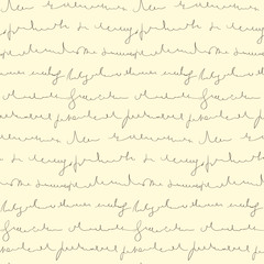 Seamless pattern of hand written text