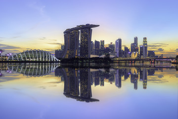 Skyline Singapore during sunset
