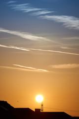 Sunrise over Rhein Main