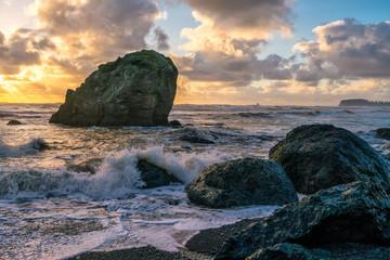 Last High Tide Wave Break