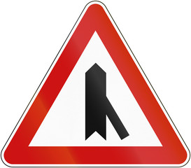 Croatian regulatory road sign - Intersection with priority