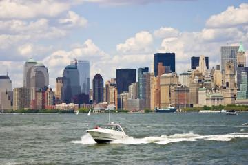 Manhattan. New York City skyline