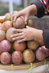 THAILAND CHIANG RAI MARKET FRUIT PASSIONFRUIT