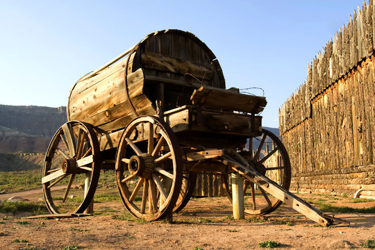 Fort Zion. Old western wagon