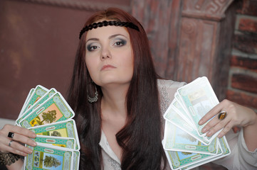 Fortune-teller with tarot cards