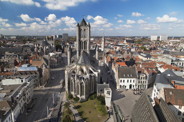 St Nicholas Church and the Old City of Ghent