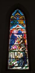Stained glass window in Washington Masonic National Memorial