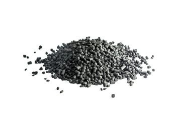 Granulated coal isolated on white background
