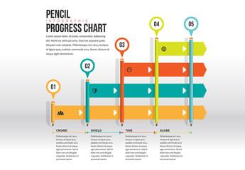 Pencil Progress Chart Infographic