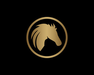 Gold Horse Icon