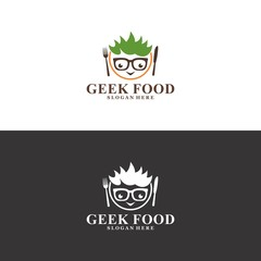 geek food logo in vector
